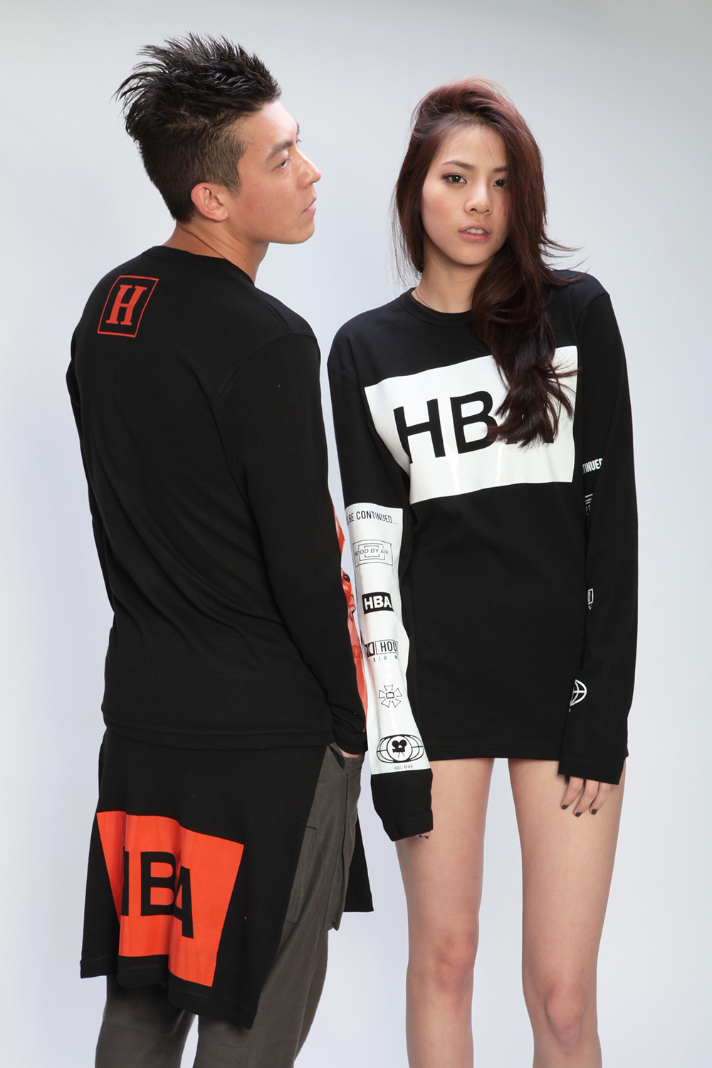 hood by air 2012 fall winter styling lookbook featuring edison chen