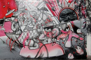 How & Nosm Mural on Bowery & Houston in New York City