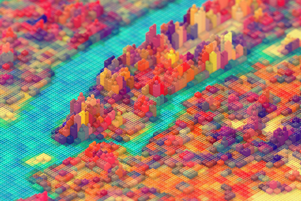 JR Schmidt Replicates New York City in LEGOs