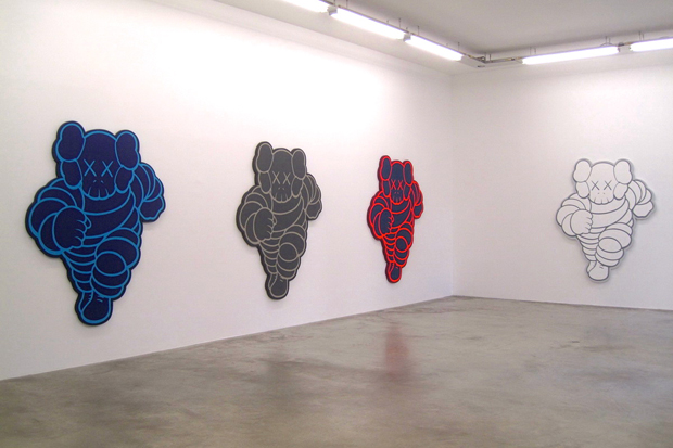 kaws imaginary friends exhibition galerie perrotin paris recap