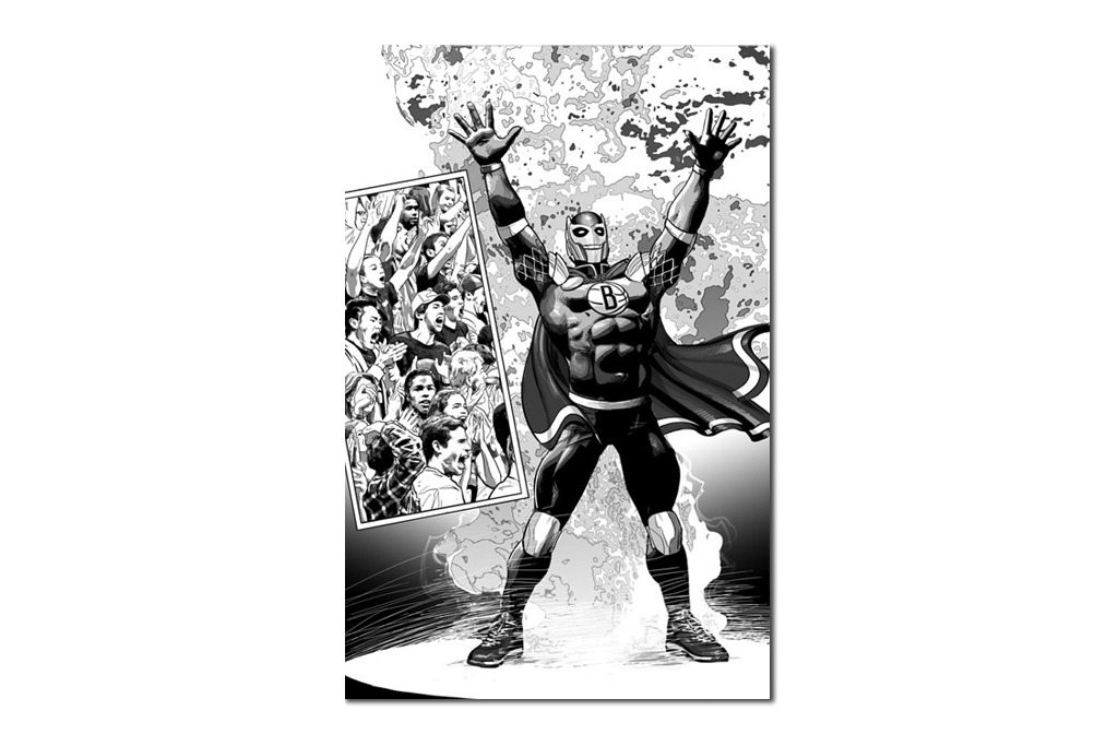 Marvel and the Brooklyn Nets Unveil First Super Hero in NBA History