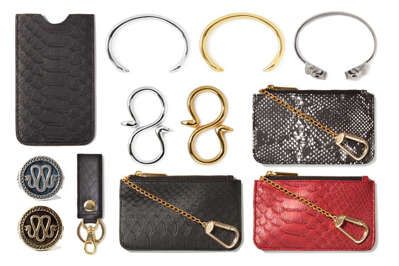 stevin gold x mister 2012 fall winter snakeskin accessories collection