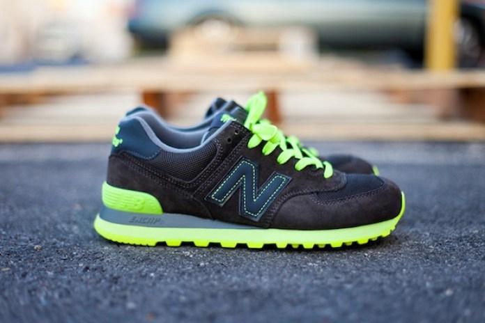 New Balance 574 Black/Neon