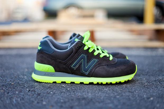 new balance 574 black neon