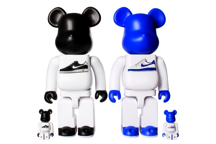 Nike x Medicom Toy 400% & 100% AF1 Bearbrick