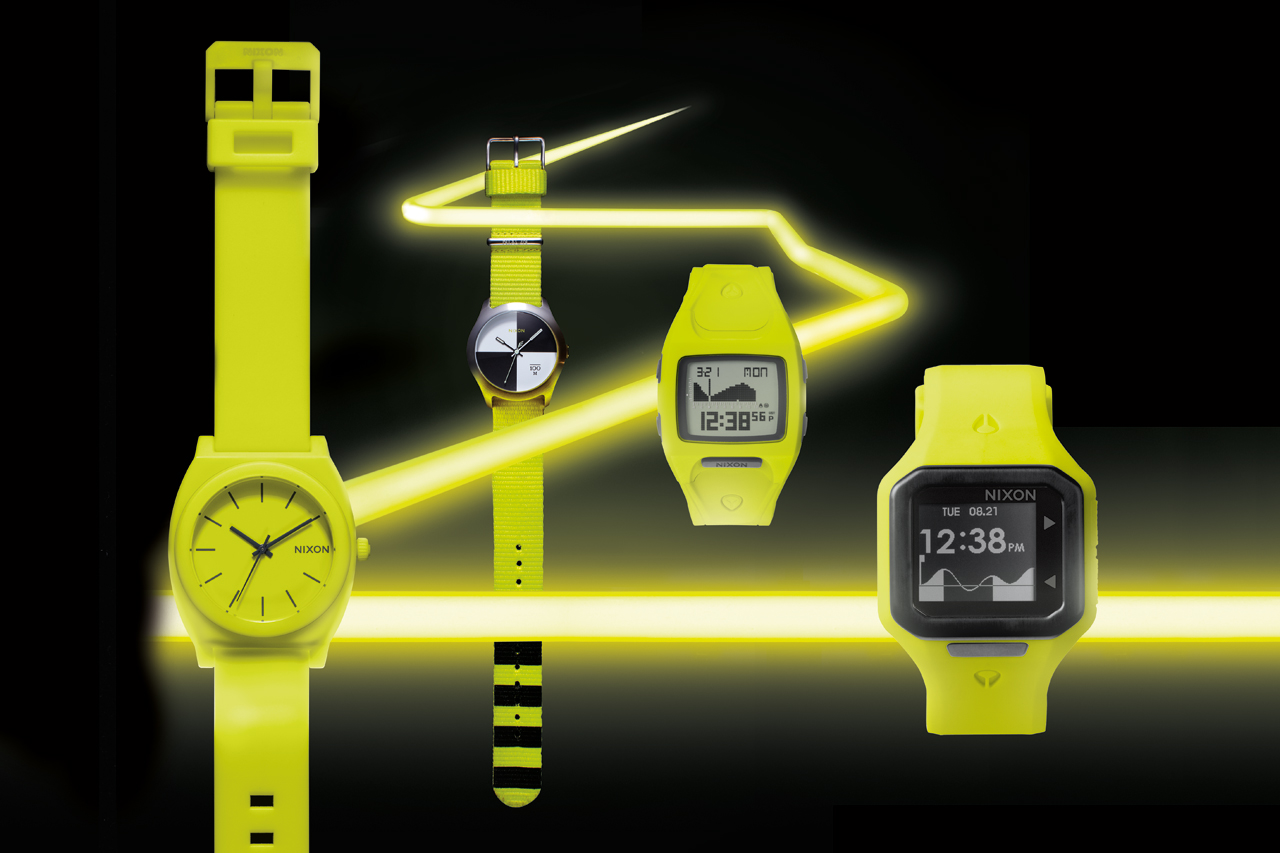 nixon 2012 fall winter neon yellow collection