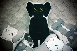 OriginalFake 2012 KAWS Companion Cushion Black
