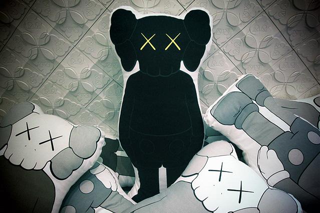 OriginalFake 2012 KAWS Companion Cushion Black