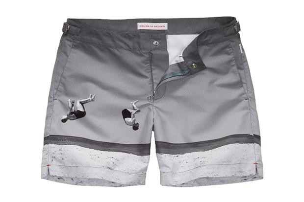 "Orlebar Brown ""Summer-Sault"" George Caddy Swim Shorts"
