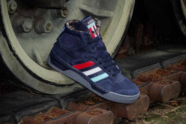 "Packer Shoes x adidas Originals Conductor Hi ""New Jersey Americans"""