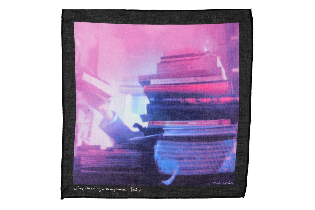 """Paul Smith """"Day Dreaming with My Camera"""" Scarf and Pocket Square Collection"""