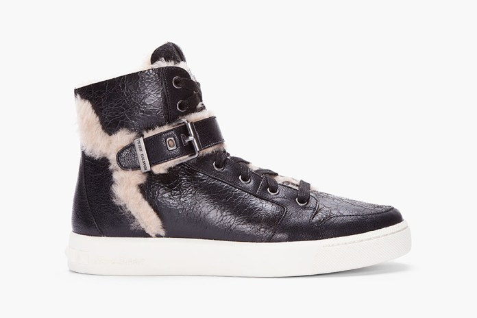 Pierre Balmain Shearling High Top Sneaker