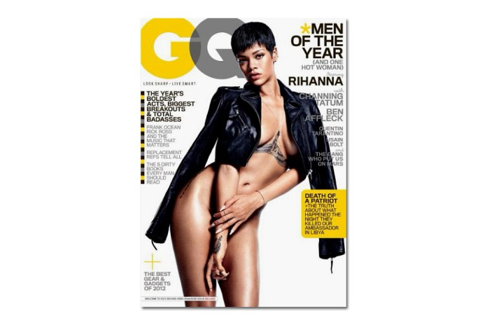 """Rihanna Undresses for the Cover of GQ's 2012 December """"Man of the Year"""" Issue"""