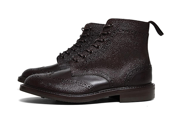 sophnet x trickers 2012 fall winter pebbled wingtip boot