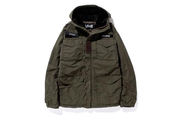 Stussy x Schott Waxed M65 Jacket