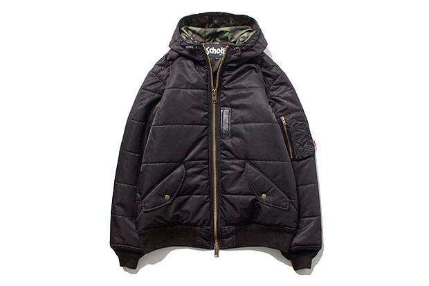 stussy x schott ma 1 puffy jacket