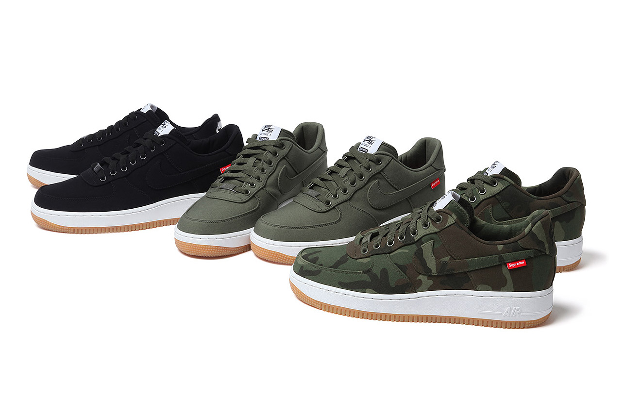 supreme x nike 2012 air force 1 a closer look