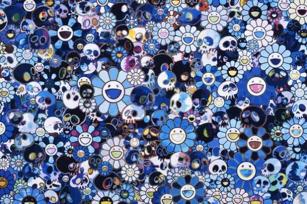 "Takashi Murakami ""Flowers & Skulls"" Exhibition @ Gagosian Gallery Hong Kong"
