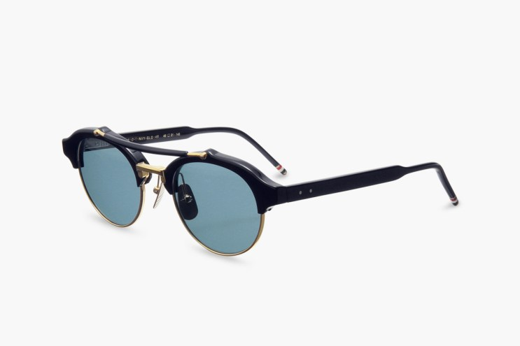 Thom Browne Round Gold Frame Sunglasses