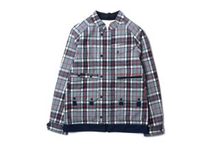White Mountaineering PERTEX Wool Check Luggage Drizzler Jacket