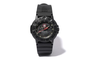 A Bathing Ape x Luminox Navy SEAL Blackout 3001MIL Watch