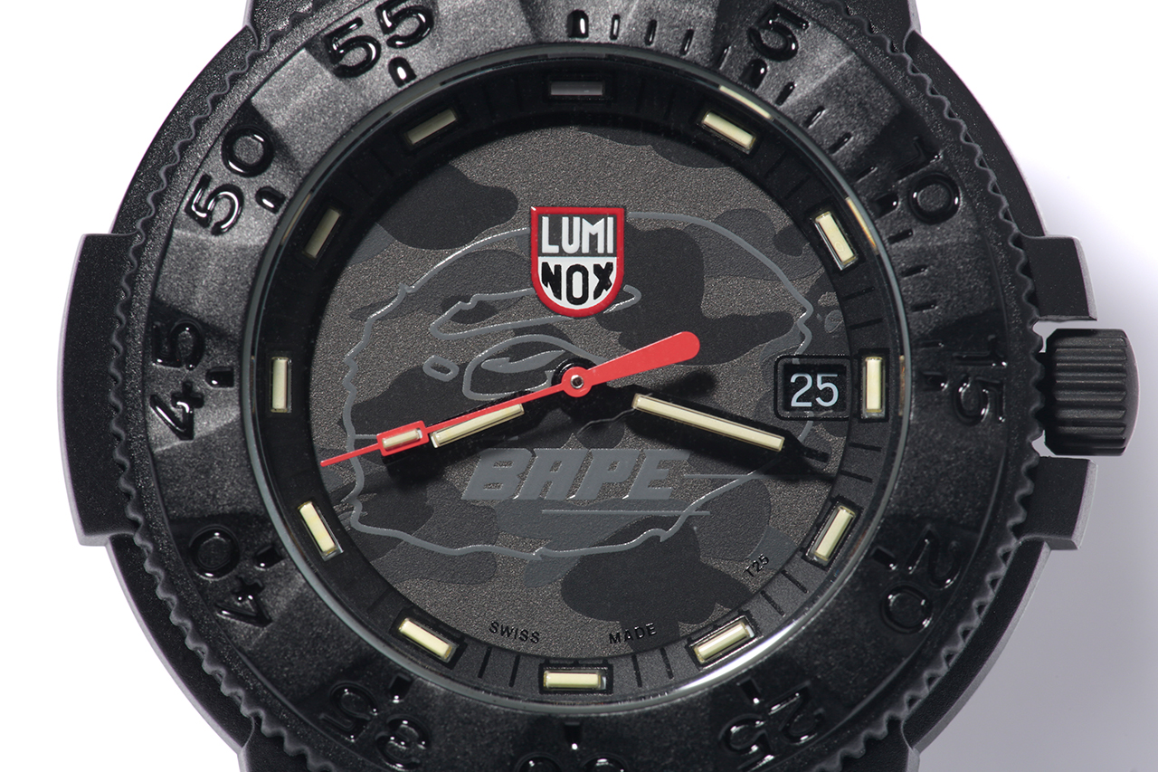 A Bathing Ape x Luminox Navy SEAL Blackout 3001MIL Watch