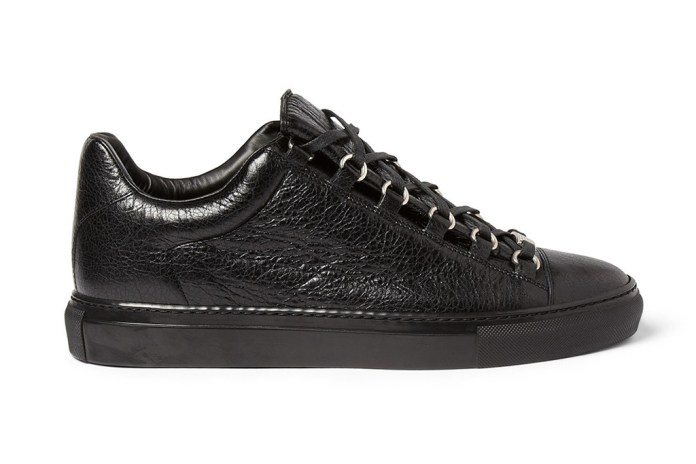 Balenciaga Arena Creased Leather Sneakers