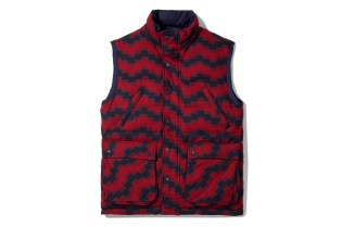 Billionaire Boys Club Navy & Red Plaid Reversible Utility Vest