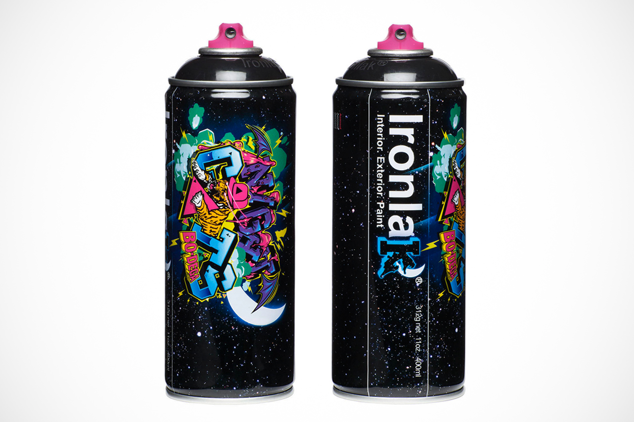bodega x ironlak paints murdered out can