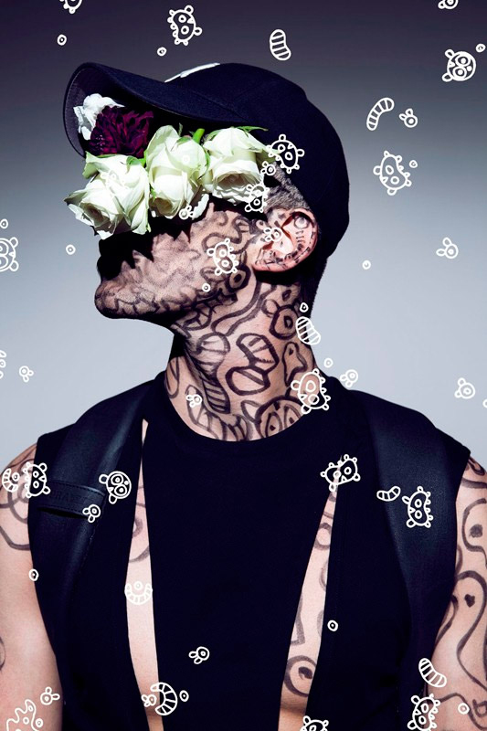 dazed confuseds to me you are a work of art featuring illustrations by nicola formichetti