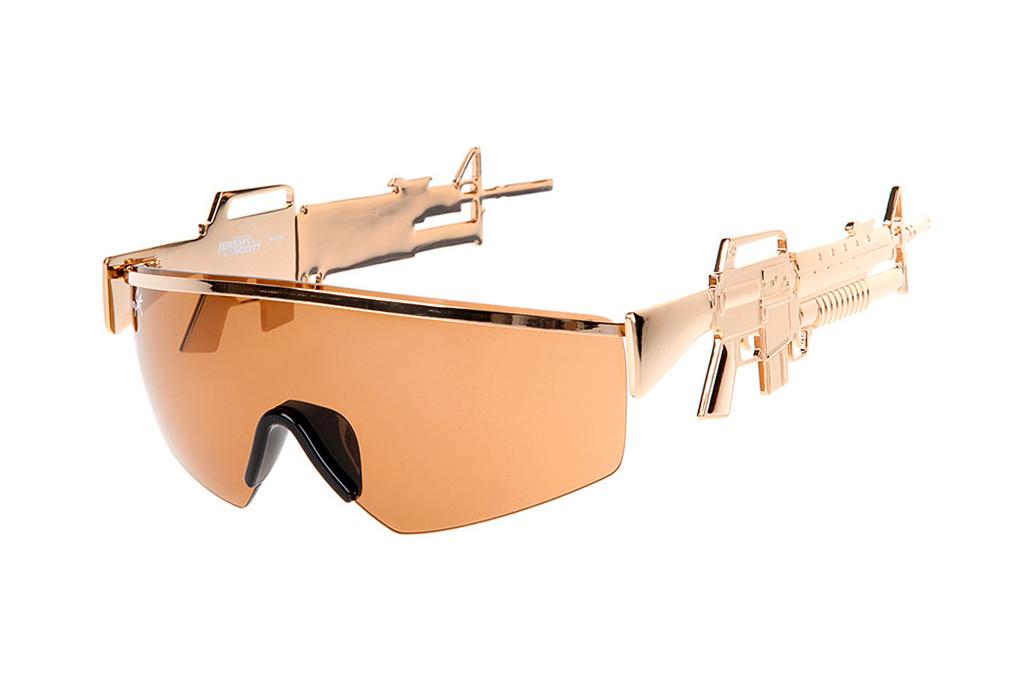 Jeremy Scott x Linda Farrow Golden Gun Sunglasses