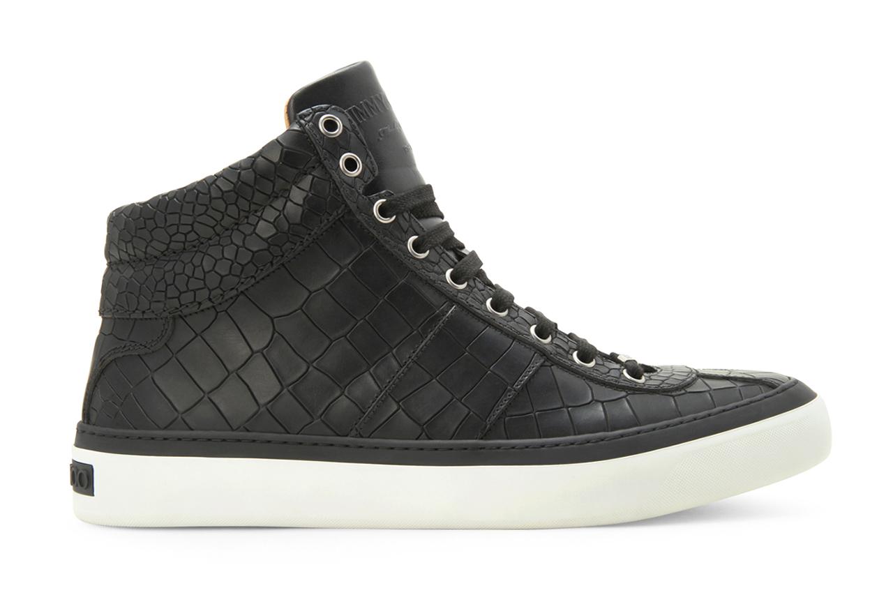 jimmy choo 2013 spring summer croco emboss sneaker