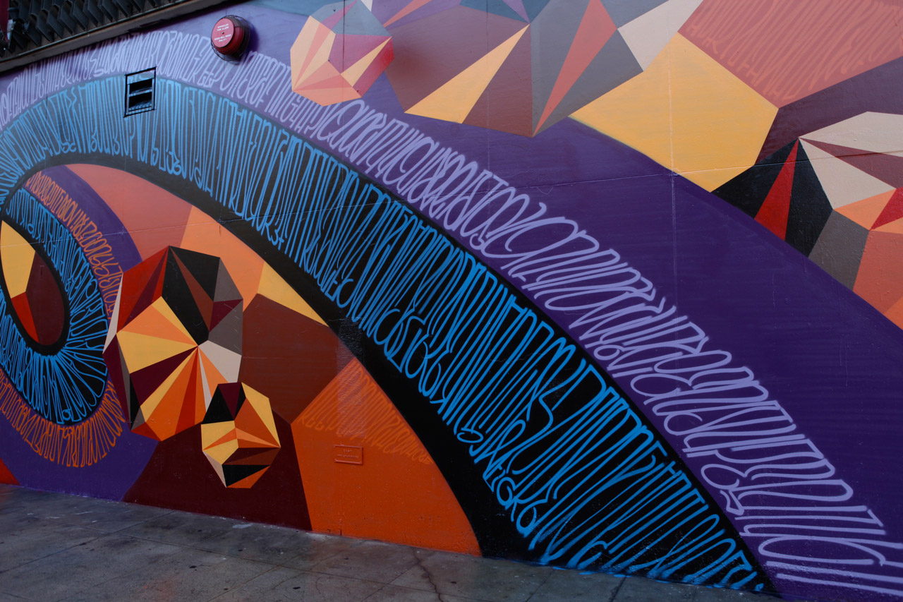 jurne and mwms mural in downtown los angeles