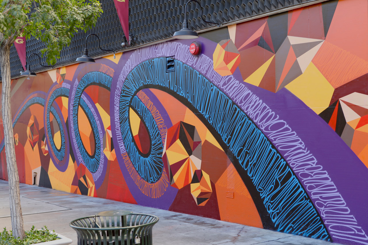 JURNE and MWM's Mural in Downtown Los Angeles