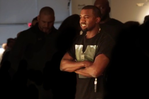 Kanye West Surprises Pharrell During Design Miami Q&A