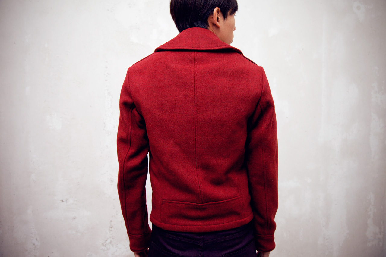 Karmaloop Plus x Spiewak Red Heather Hancock Aviator Jacket