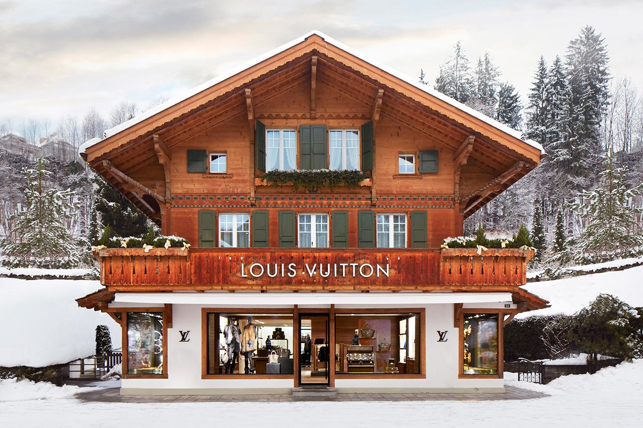 """Louis Vuitton Opens New """"Winter Resort"""" Store in Switzerland"""