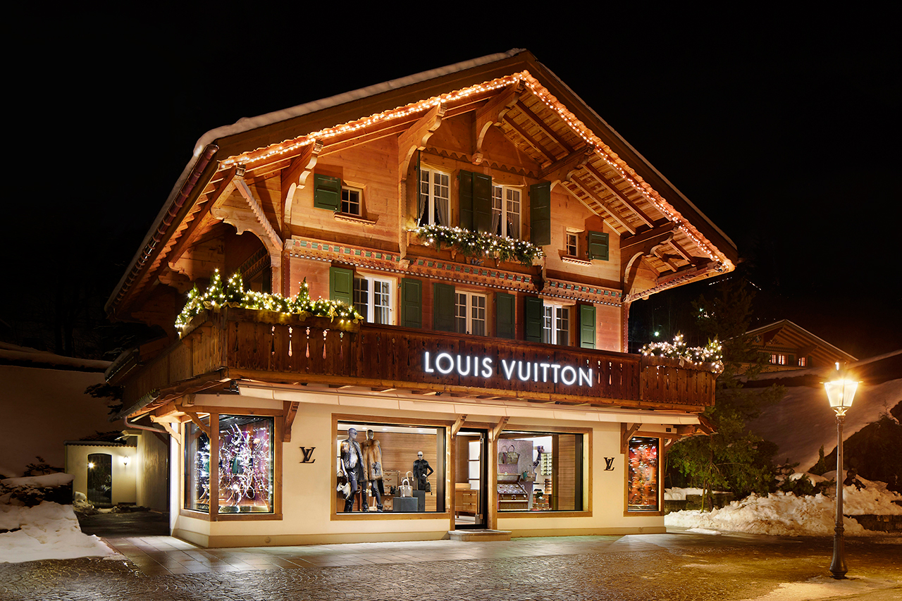 louis vuitton opens new winter resort store in switzerland