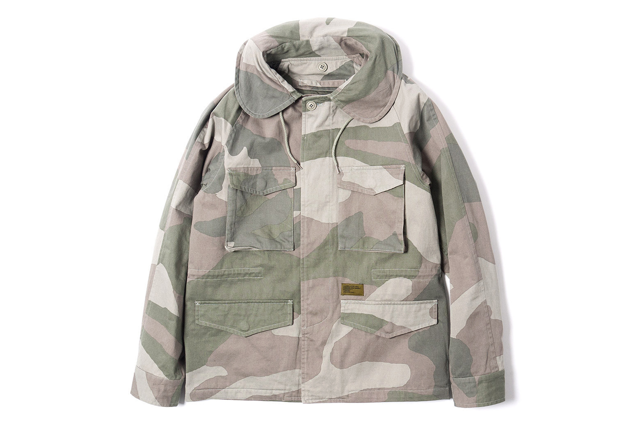 Maiden Noir Military Field Jacket Beige Camo