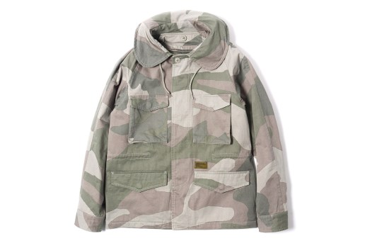 Maiden Noir Military Field Jacket Beige Camo
