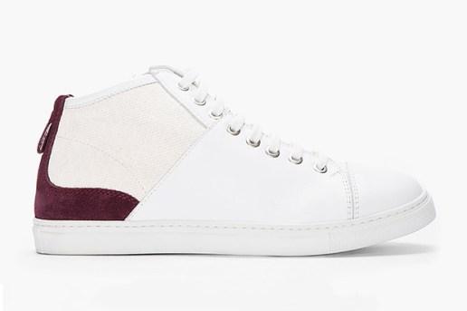 Neil Barrett Purple-Accent Nappa Leather Sneakers