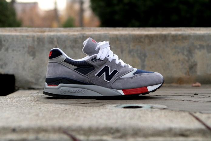 New Balance 998 Grey/Navy/Red