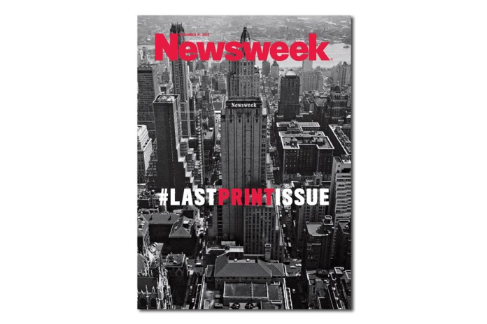 #LASTPRINTISSUE from Newsweek