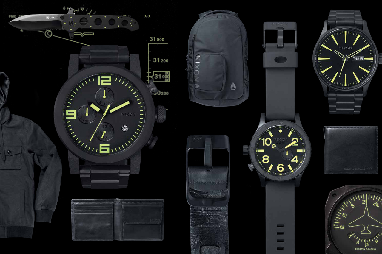 "Nixon 2013 Spring/Summer ""Black & Lum"" Collection"