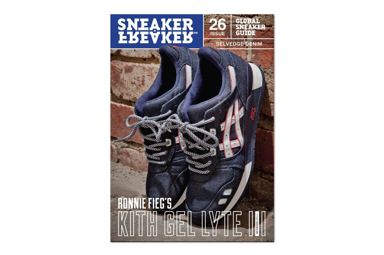 Sneaker Freaker Issue 26 Previews Ronnie Fieg's New Selvedge Denim ASICS Gel Lyte III
