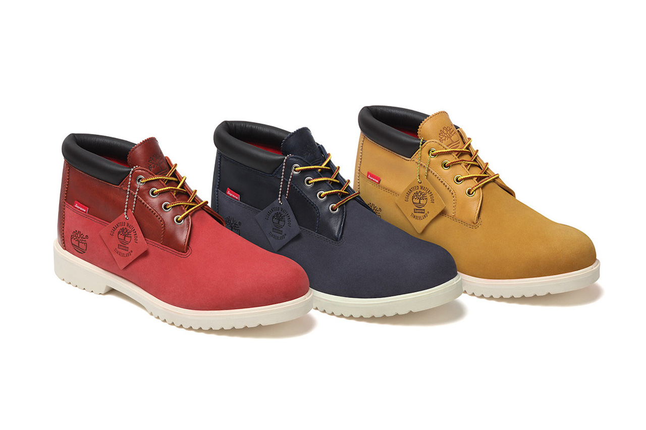 supreme x timberland 2012 fall winter waterproof chukka boot