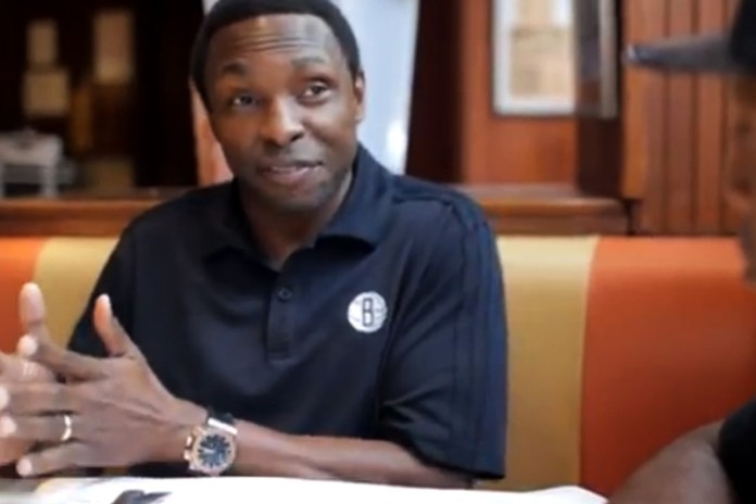 Talib Kweli and Brooklyn Nets' Coach Avery Johnson Discuss Brooklyn Over Lunch at Junior's