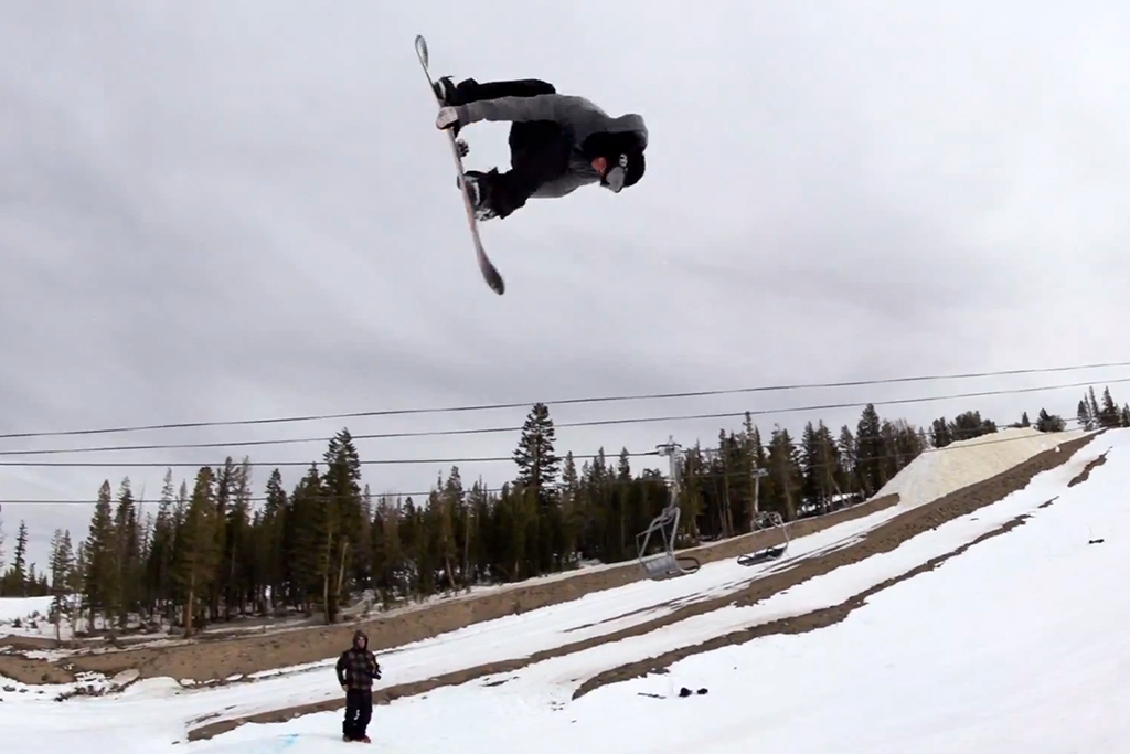 Tyler Flanagan Charges Mammoth on a Solar-Powered Snowboard