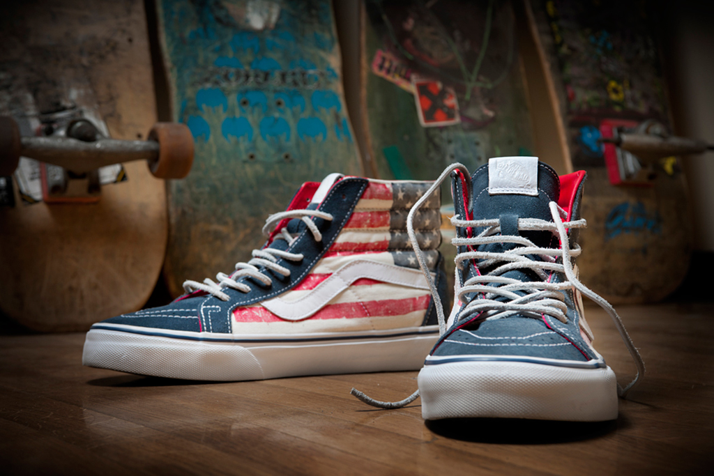 vans california 2012 holiday sk8 hi reissue american flag