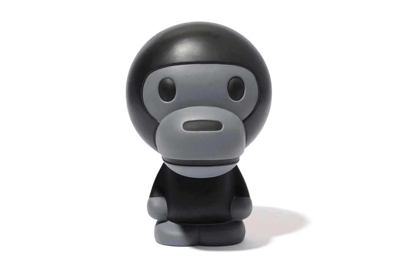 a bathing ape 2013 spring summer baby milo black grey figure